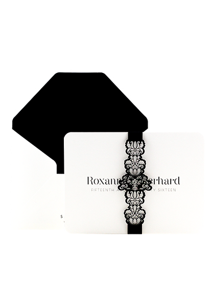 Regale Invitation - Black and White