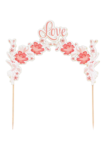 Floral Arch Cake Topper