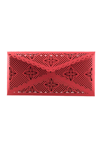 Lace Envelope DL - Red