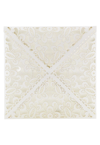 Lace Envelope Square - White