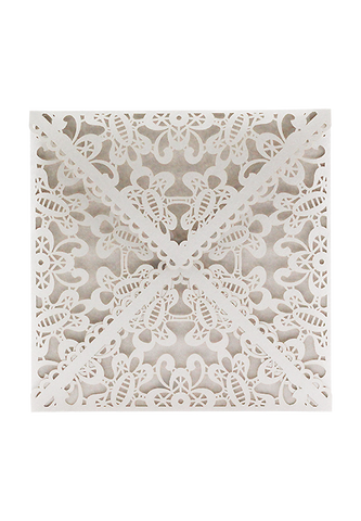 Lace Envelope Square - Silver