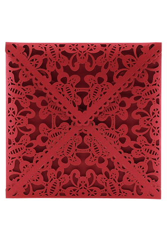 Lace Envelope Square - Red