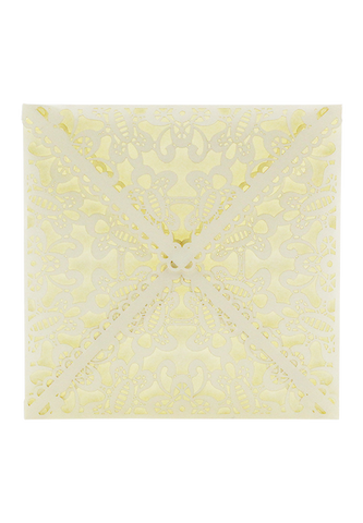 Lace Envelope Square - Cream