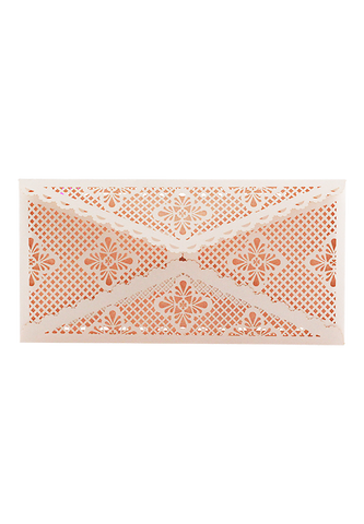 Lace Envelope DL - Nude Pink