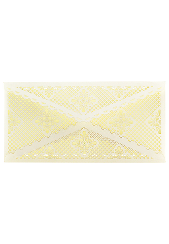 Lace Envelope DL - Cream