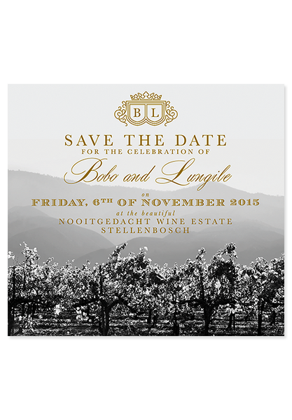 Vineyard Opulence Save the Date
