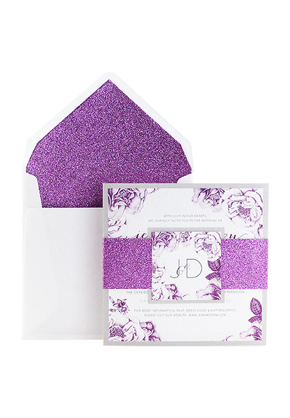 Amethyst Bloom Invitation