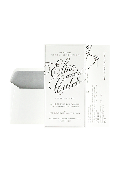 Lara Invitation - Grey