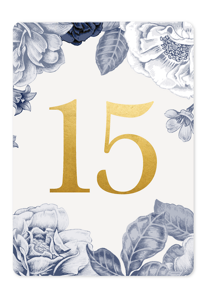 Beautiful Blooms Table Number