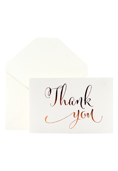 Cajsa - Foiled Thank You Card