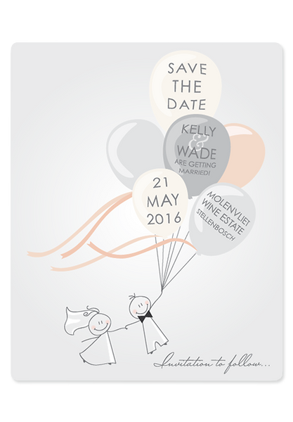 K'Mich Weddings - wedding planning - invitations - Up & Away Digital Save The Date - secret diary