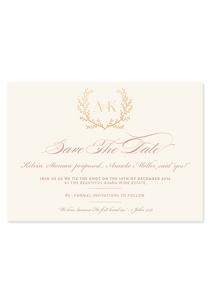 Blushing Bride Digital Save The Date