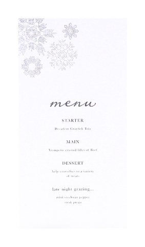 Once Upon A Winter Menu
