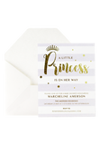 A Little Princess Invitation - Lilac