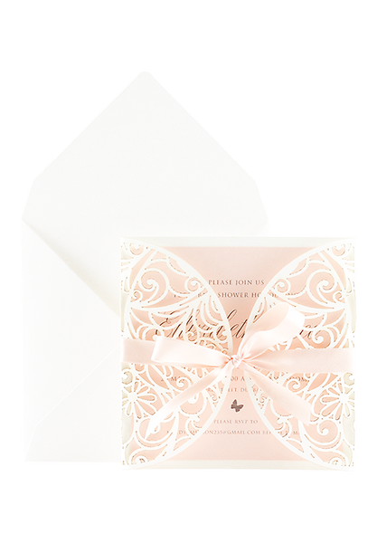 Baby Kayleigh Invitation - Pink