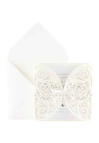 Baby Kayleigh Invitation - White