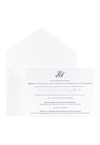 Lysander Invitation - Foiled