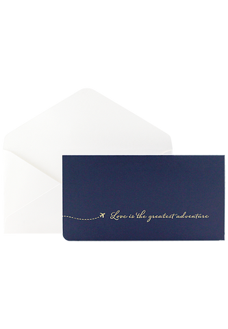Love is the Greatest Adventure - Boarding Pass Invitation - Navy