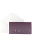 Boarding Pass Invitation - Our love travels - Purple