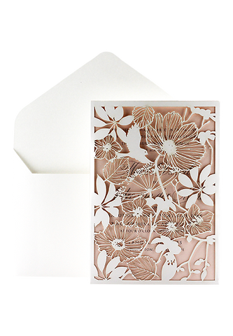 Isla Pocket Invitation - Blush