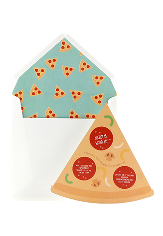 Pepperoni Pizza Party Invitation