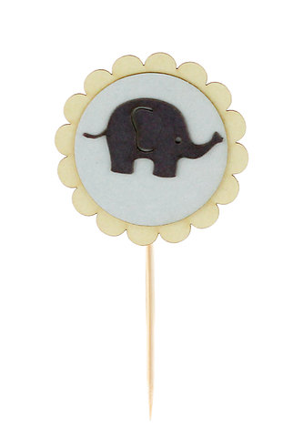 Little Elephants 3D Food Flag