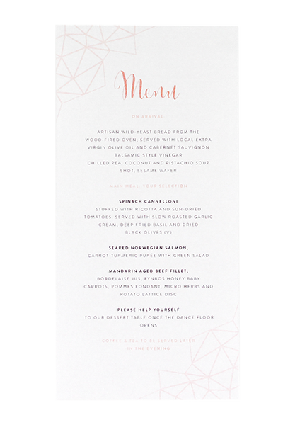 Blush Swirl Menu
