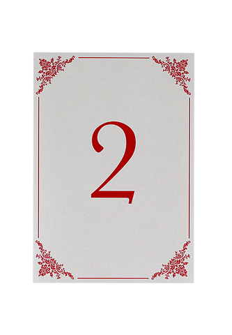 Cerise Table Number