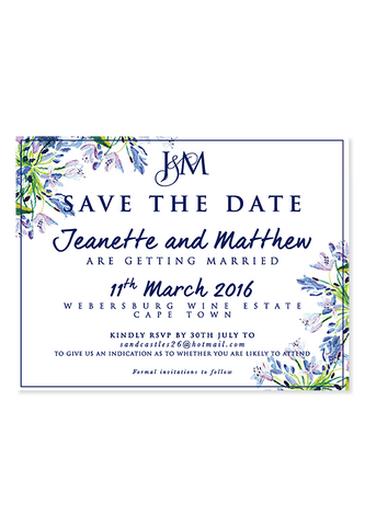 Agapanthus Digital Save The Date