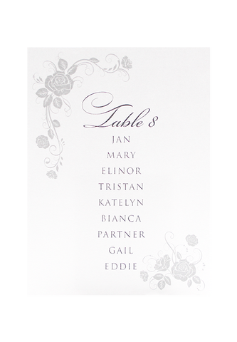 Penelope Seating Chart Card