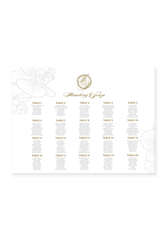 Senzo Orchid Seating Chart