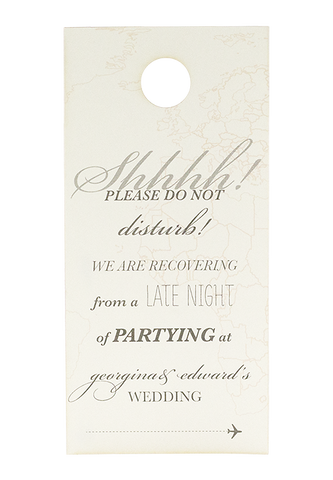 "Come Fly With Me ""Do Not Disturb"" Sign"