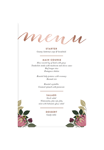 Bloem Menu Canvas