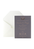 Charcoal Rose Gold Invitation