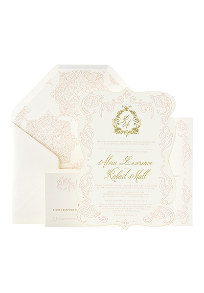 Pastel Invitation - Letterpressed and Foiled