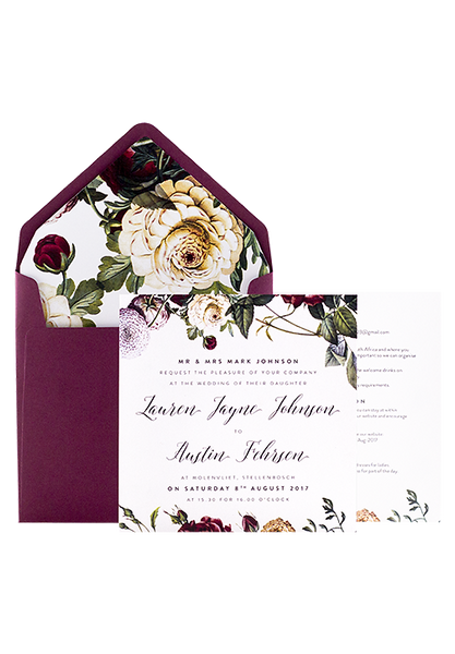 Berry Rose Invitation