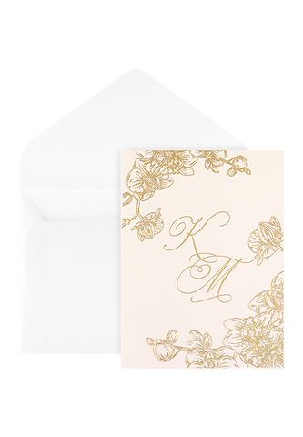 Orchid Bay Invitation - Blush Edition
