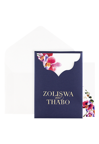 Carmine Invitation - Navy Botanical Edition