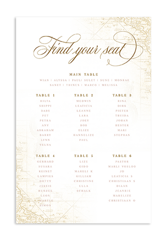 A Captivating Voyage - Seating Chart