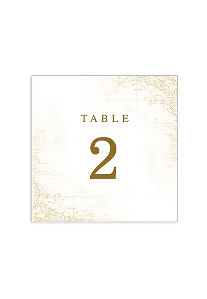 A Captivating Voyage - Table Number Card