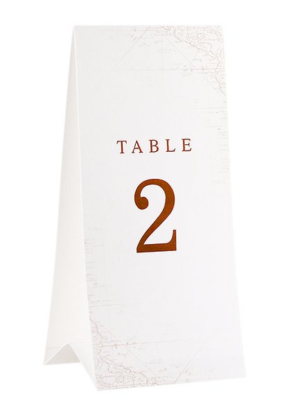 A Captivating Voyage - Table Number