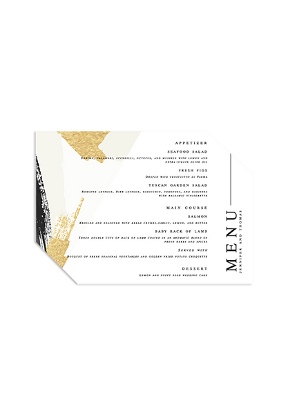 A Modern Affair - Geometric Menu Card