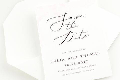 A Watercolour Wish Save The Date