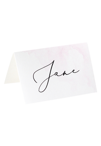 A Watercolour Wish Place Card