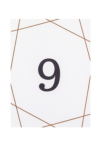 Geometry of Love Table Number