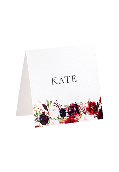 Burgundy Bliss Place Card