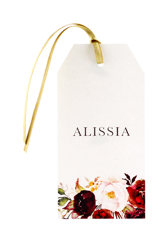Burgundy Bliss Name Tag
