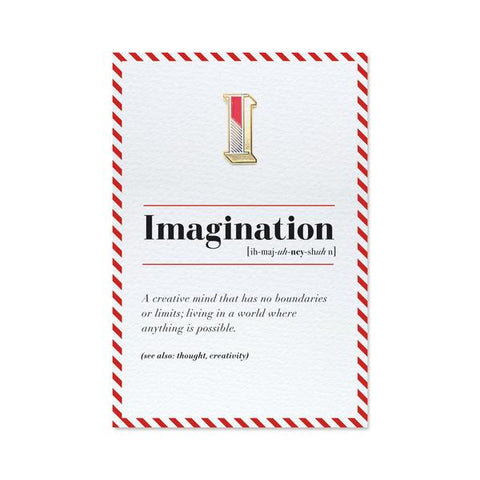 'Imagination' pin