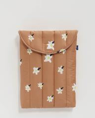 Puffy laptop sleeve - Painted Daisy