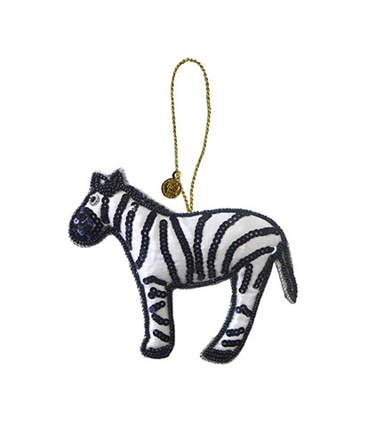Silly zebra ornament